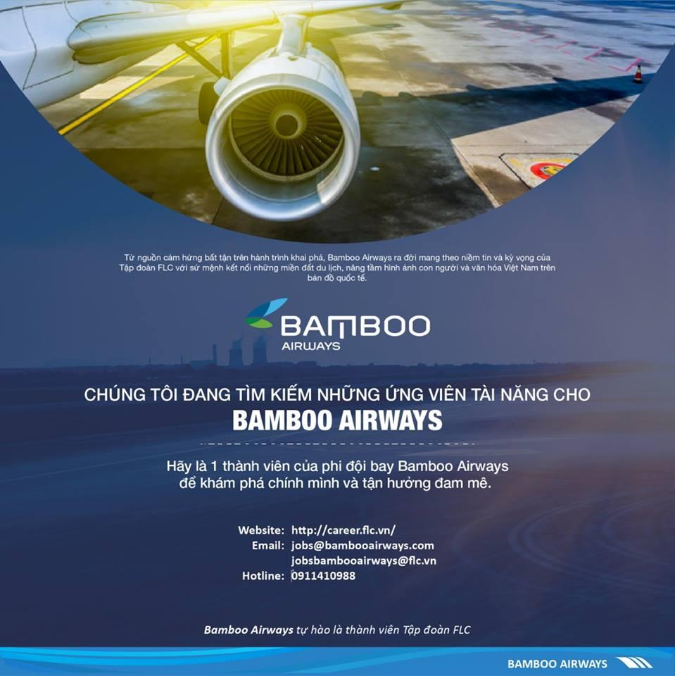 Bamboo Airways tuyển dụng gần 700 nhân sự cho hãng