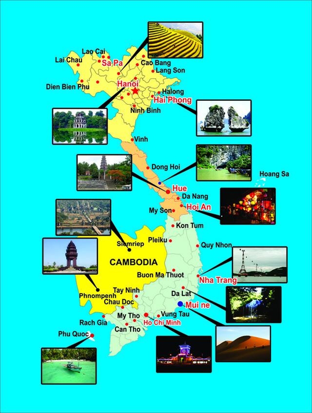 Các điểm du lịch nổi tiếng Việt Nam