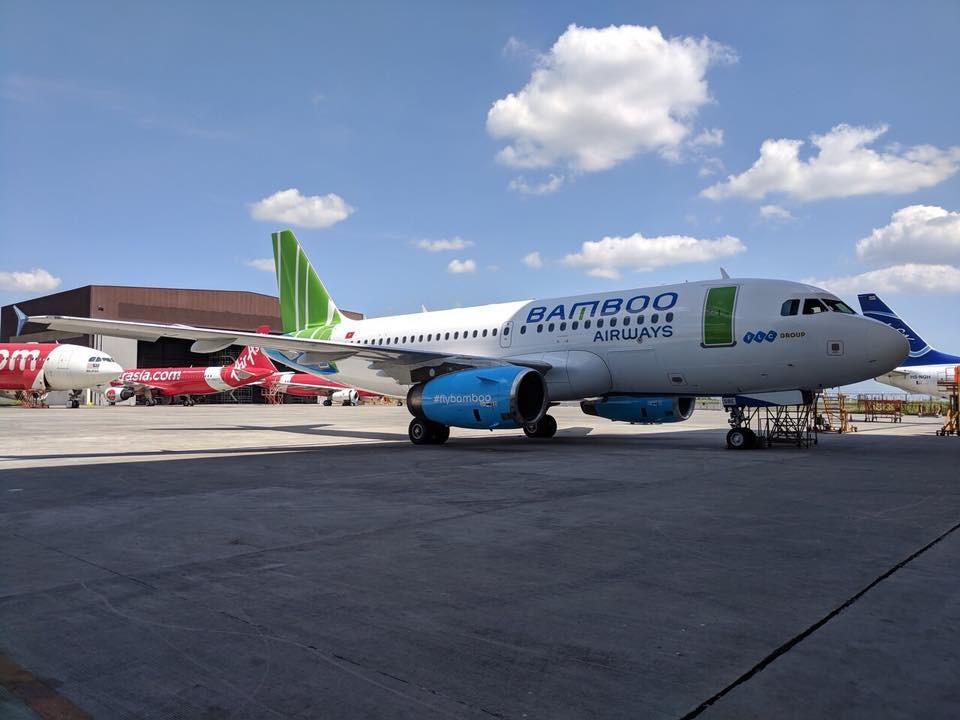 Hình ảnh thực tế máy bay Bamboo Airways