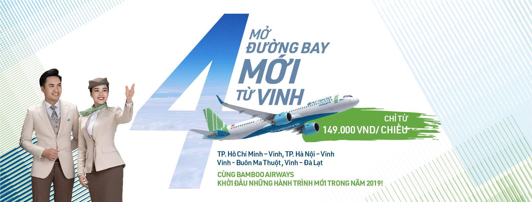 Vé bamboo đi Vinh