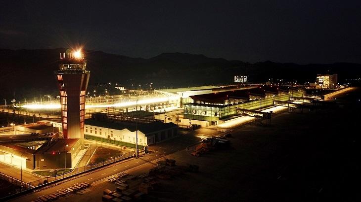 Cảng hàng không quốc tế Vân Đồn về đêm