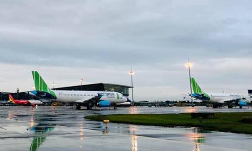 Máy bay Bamboo Airways tại Nội Bài