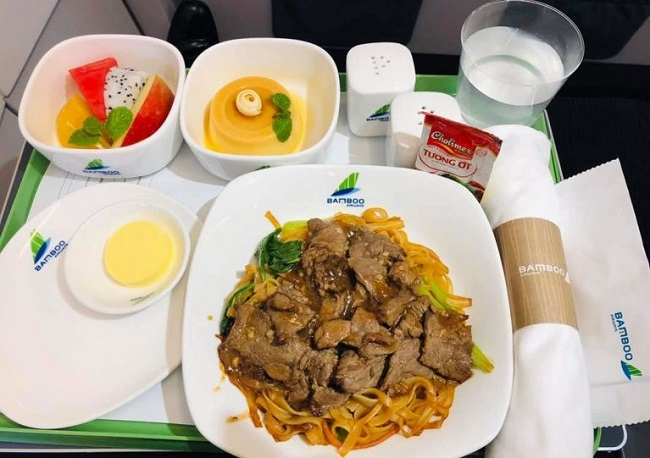 Suất ăn trên Bamboo Airways