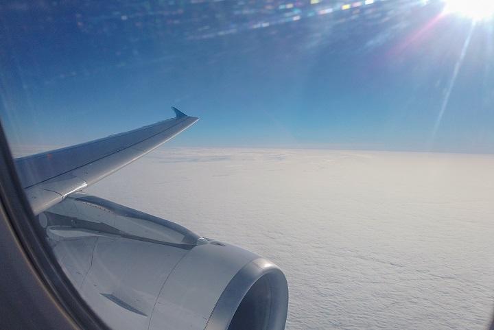 Góc nhìn ra ngoài từ Airbus A321neo - Bamboo Airways