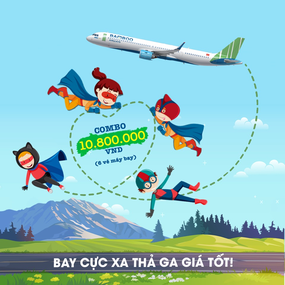 Combo 10tr8 Bamboo Airways