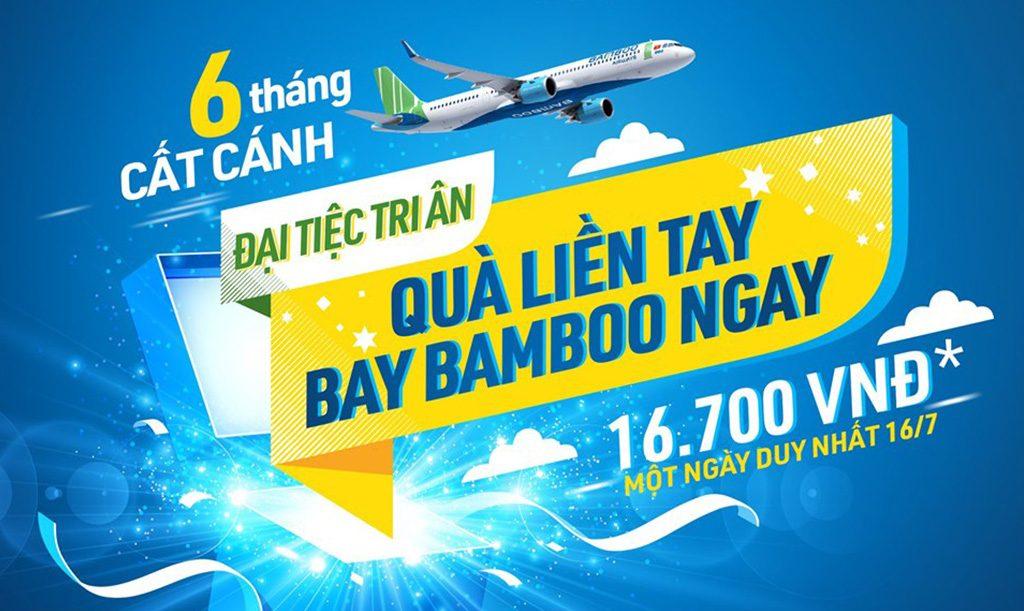Bamboo Airways giá vé còn 16.700đ